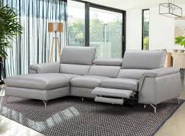 reclining sectional grey. Brilliant Reclining Serena Sectional With Recliner Throughout Reclining Grey I