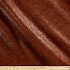 faux leather textured western bourbon fabric