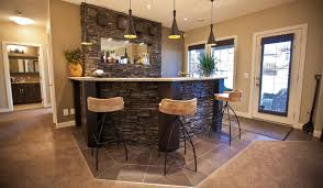 basement bar stone. Stone Basement Wetbar And Dark Wood Cabinetry Transitional-home-bar Bar Stone