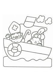 Sinterklaas Kleurplaat Stoomboot Sint Piet Sinterklaas Saint