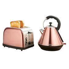 <b>2</b> Piece Copper <b>Breakfast</b> Set <b>Toaster</b> & Kettle