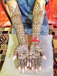 South Indian Bridal Mehndi Designs Intricate South Indian Bridal Henna Design For A Bride From