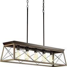 progress lighting briarwood 38 in 5 light antique bronze coastal cage chandelier
