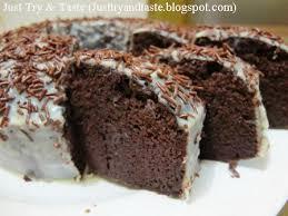 Resep Cake Coklat Kukus Steamed Moist Chocolate Cake Just Try