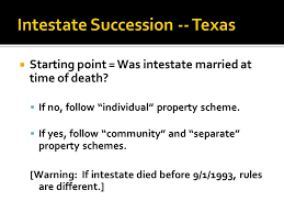 1 As To Person Total Intestacy 2 As To Property