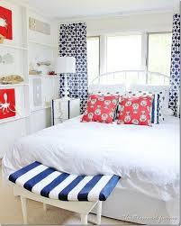 red white blue coastal bedroom