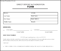 Direct Deposit Template Free Direct Deposit Template Bank Form Updated Word For Ban Excel