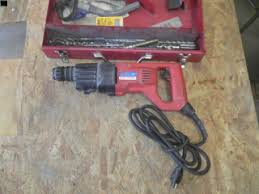 milwaukee falcon hammer drill. tools milwaukee 5366-1 heavy duty falcon rotary hammer, with pieces, in box milwaukee falcon hammer drill