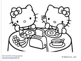 Free printable hello kitty coloring pages for pages. Free Hello Kitty Coloring Book