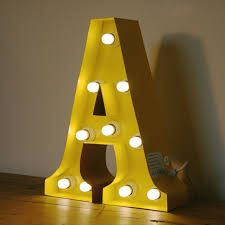 marquee vintage light up metal letter j illuminated wall sign bulb