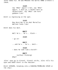 Movie Script Example This Is An Example Of A Movie Script Writing Was Never My Strong