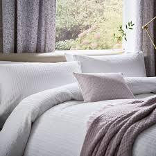 Fable Alisia Duvet Cover Set White   Bedeck Home