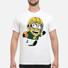 green bay packers minions playing rugby shirt