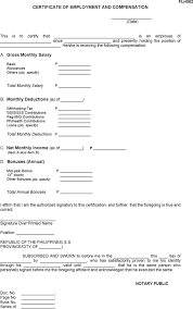 The Sample Certificate Of Employment Templates In Pdf Word Excel