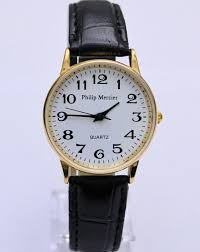 ladies philip mercier watch white face gold tone casing black this quality ladies watch is from the philip mercier collection it is amazing value for money