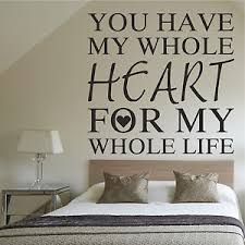 image is loading you have my whole heart wall art sticker  on wall art words for bedroom with you have my whole heart wall art sticker romantic decor words quote