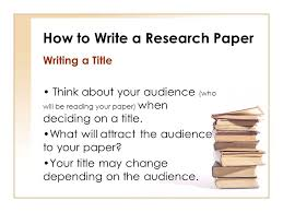 How To Write A Research Paper How To Write A Title Eclipse