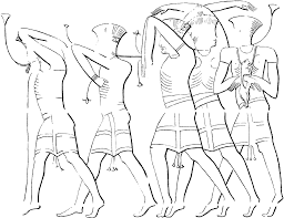 Figure 20 3 figures captioned 'tjekker' being presented as spoils of war by ramesses iii to the theban triad at medi habu after epigraphic survey