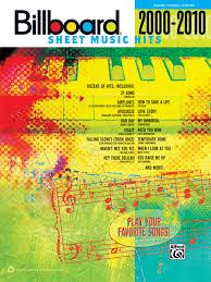 Billboard Sheet Music Hits 2000 2010 Piano Vocal Guitar