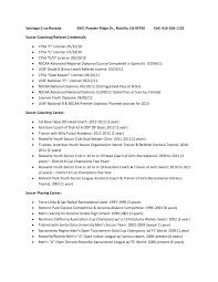 sample football coaching resume soccer coach sports example sample gallery of hockey resume template