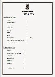 Image result for marriage biodata format download-word format