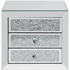 crystal 3 drawer jewellery box