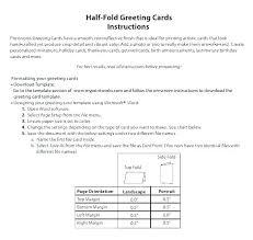 Half Fold Card Template Word Quarter Fold Birthday Card Template Clemsonparade Co