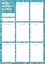 Weekly Calendar Online Customize Planner Templates Online Template 2019 Blue Wave