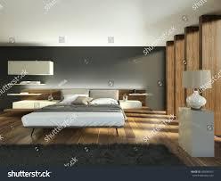 Bedroom Wood Beams White Grey Tones 3 D Stock Illustration 395049355    Shutterstock