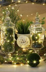 Moss Balls Wedding Decor Delectable Picture Of Moss Balls With Lights In Vases