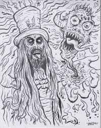 Black Light Coloring Posters Meng Art Rob Zombie Black Light Poster Art