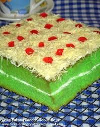 Just My Ordinary Kitchen Cake Pandan Tabur Keju Indonesian