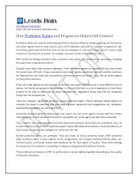Progressive Call Center How Predictive Dialers And Progressive Dialers Call Centers