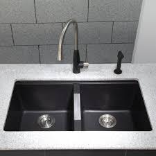 Kraus Kgu434b 33 Inch Undermount 5050 Double Bowl Granite Kitchen