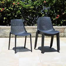 elvis 4pk plastic resin patio chair set