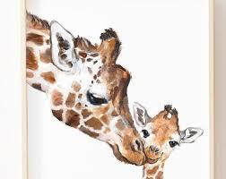 Pin by Shari Holt on Aubrey Tattoo in 2020 | Safari nursery art, Giraffe  art, Giraffe nursery art