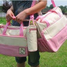 Bộ túi 5 chi tiết hữu dụng cho mẹ và bé - Giá 245.000đ tại Mua Chung