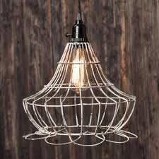 Buy Gallery Bell Cage Pendant Light Shabby Vintage Lamp Shade Wire Frame At Lights For All Occasions For Only 5095