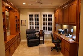 Home Office Designs For Two Cool Custom Home Office Cabinets And Built In Desks