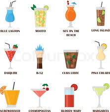 Alcohol Drinks Colourbox Vector Beverages Stock And