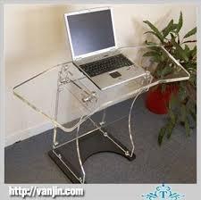 acrilic furniture clear prefab knockdown acrylic furniture computer stand table acrilic furniture