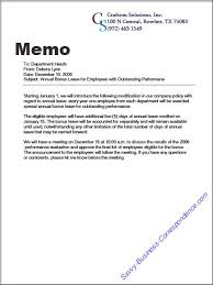 Memo Report Example Are There Types Of Memos