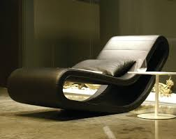 BT Design Daydream Chaise Lounge in black leather