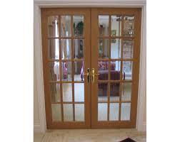 15 panel glazed internal oak door