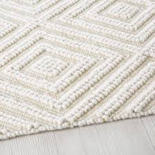 ecru wool and cotton rug with graphic motifs 160x230 maisons du monde
