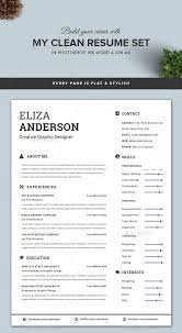 Modern Word Resume Templates Modern Resume Templates Word