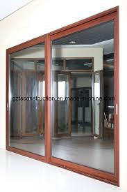 china customized powder coated aluminum sliding door with double glazing china sliding door door