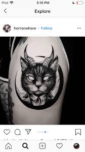 But nope, the man got smacked by barbeque equipment. Demon Cat Credit To Owner On Insta Cat Tattoo Designs Cat Tattoo Dark Tattoo