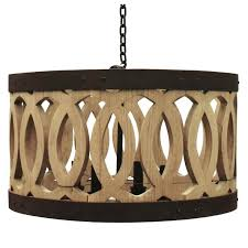 furniture wood and metal chandelier with curved wine barrel drum wood and metal chandelier wood and