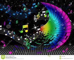 Résultat de recherche d'images pour 'note de musique en couleur'